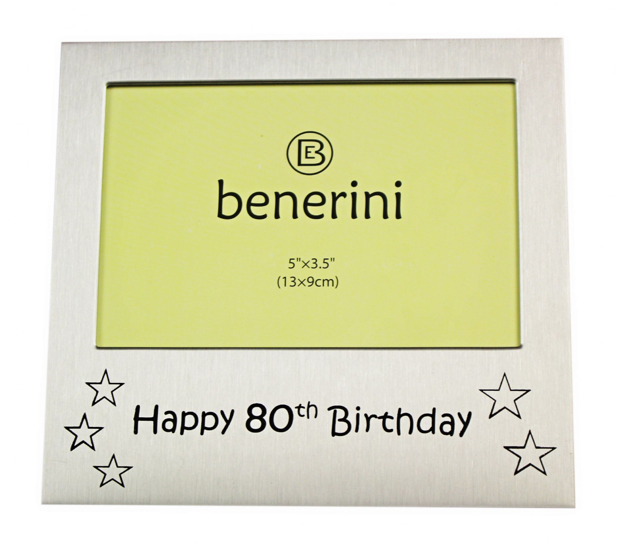 Happy 80th Birthday Photo Frame Gift Photo Size 5 X 35 Inches